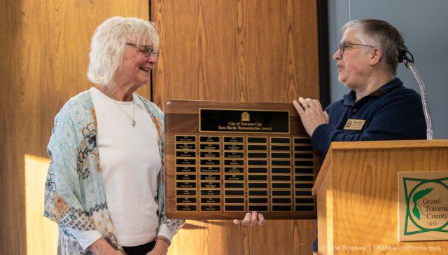 Sally Van Vleck Wins Sara Hardy Humanitarian Award in Traverse City, Michigan