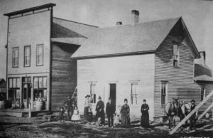 Alex and Belle Lardie Home and Store in Mapleton on the Old Mission Peninsula, Circa 1888