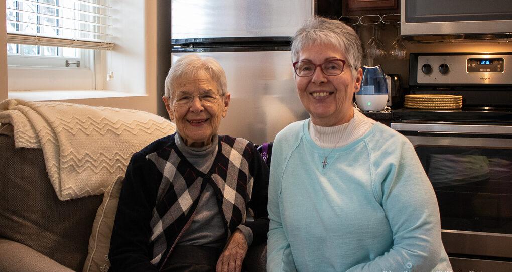 Vi Solomonson and daughter Mary Jo Lance, Jane Boursaw Photo