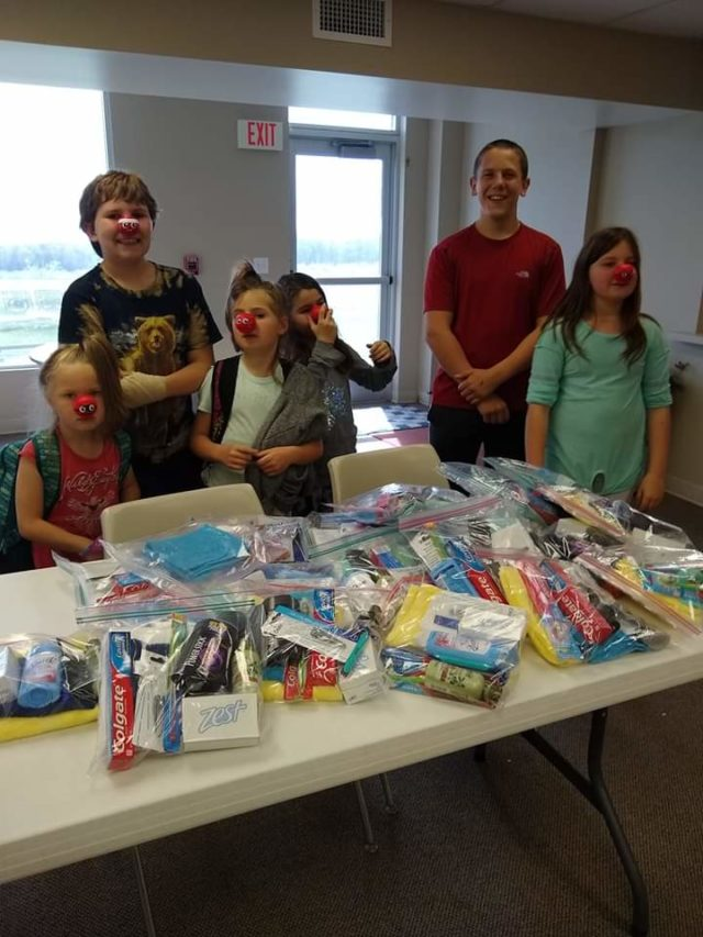 "OMP News: JAM and ROCK Kids assemble ""Dignity Kits"" at Old Mission Peninsula United Methodist Church"