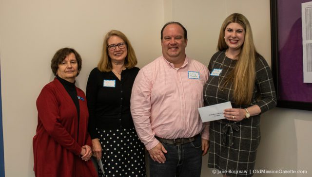 PCL Trustee Nikki Sobkowski, PCL Director Vicki Shurly, OMP Education Foundation VP Corey Phelps, and OMP Education Foundation President Amanda Renkiewicz; Jane Boursaw Photo