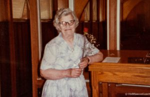 Lucile Lindsey at Old Mission Peninsula United Methodist Church on the Old Mission Peninsula, Mary Johnson Photo