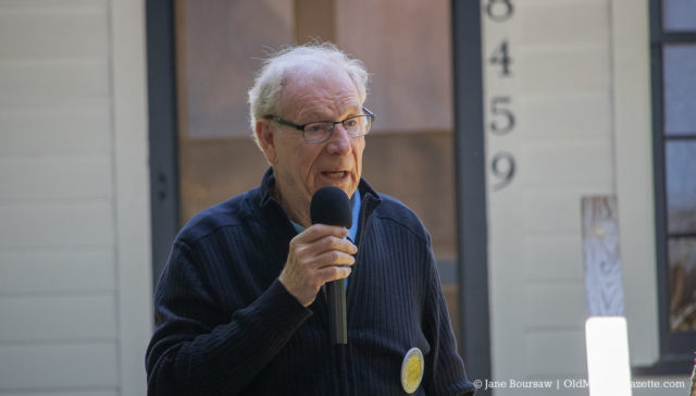 June 15, 2019: Bill Cole speaks at the Dougherty House Dedication | Jane Boursaw Photo