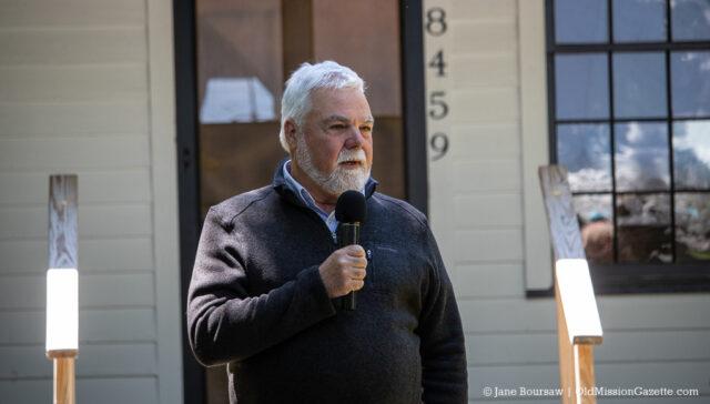 June 15, 2019: Township Supervisor Rob Manigold speaks at the Dougherty House Dedication | Jane Boursaw Photo