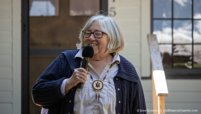 June 15, 2019: Author and Historian Mary Ann Heidermann speaks at the Dougherty House Dedication | Jane Boursaw Photo