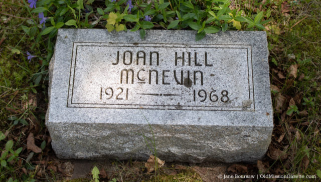 Pearl Hill Family Plot in Ogdensburg Cemetery on the Old Mission Peninsula | Jane Boursaw Photo