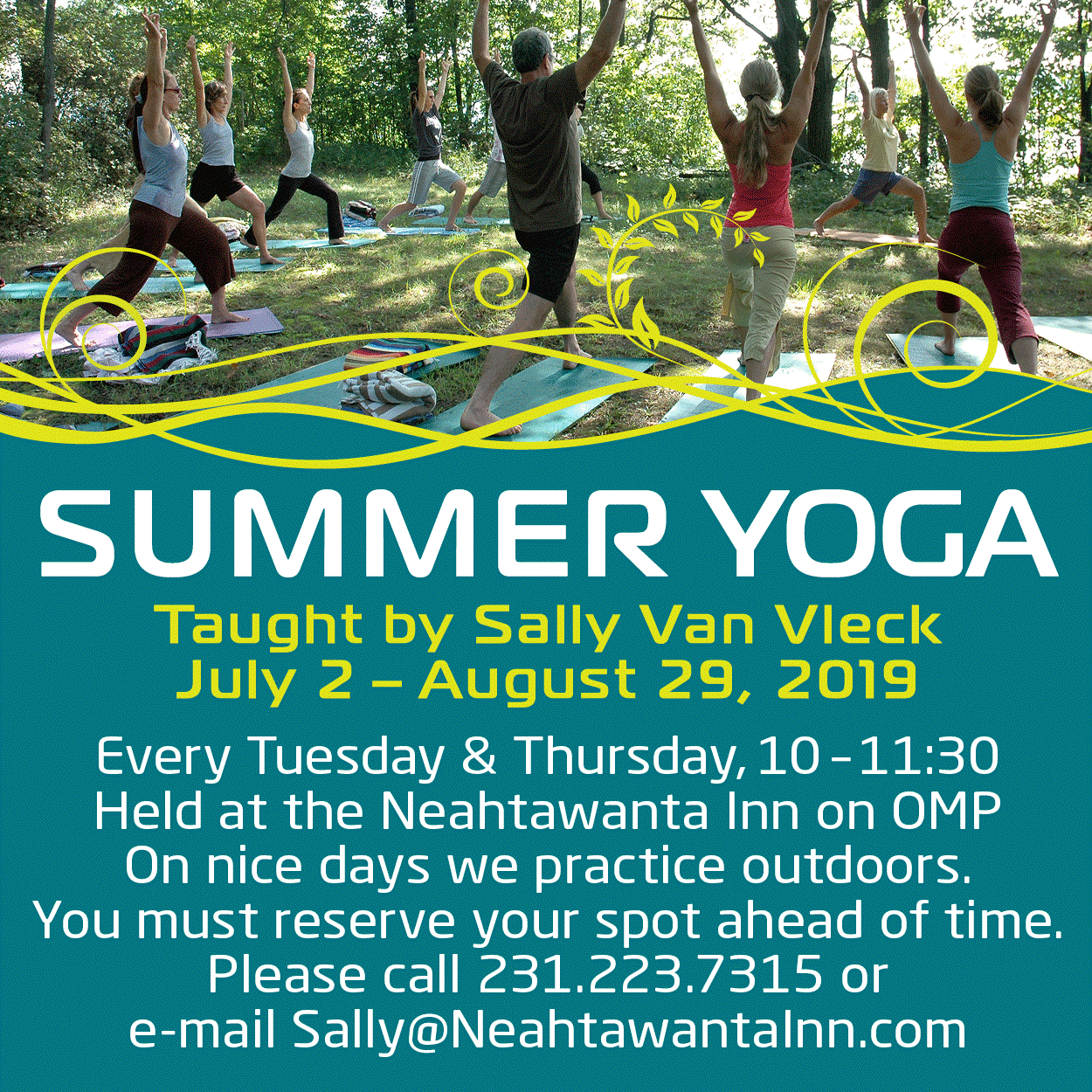 Summer Yoga at Neahtawanta Inn
