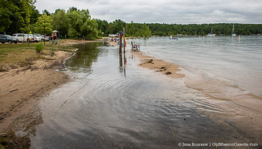 High Water at Haserot Beach on the Old Mission Peninsula