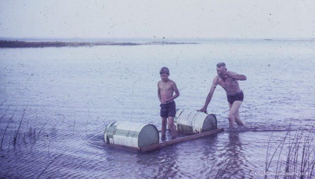 Johnson Kids' Raft in Old Mission, 1966