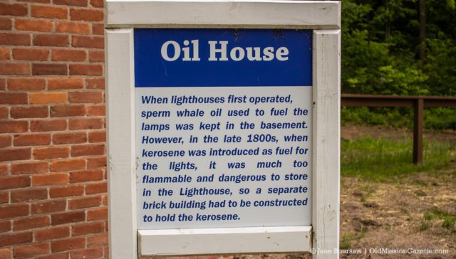The Oil House at Mission Point Lighthouse | Jane Boursaw Photo