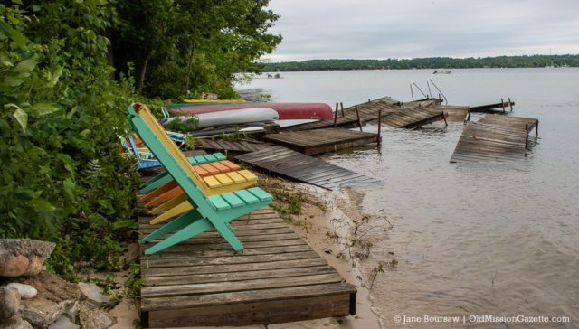 Storm Washed Neahtawanta Inn Dock | Jane Boursaw Photo