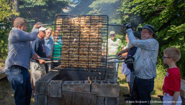 "The ""Pit Crew"" at OMPUMC Chicken BBQ 2019 | Jane Boursaw Photo"