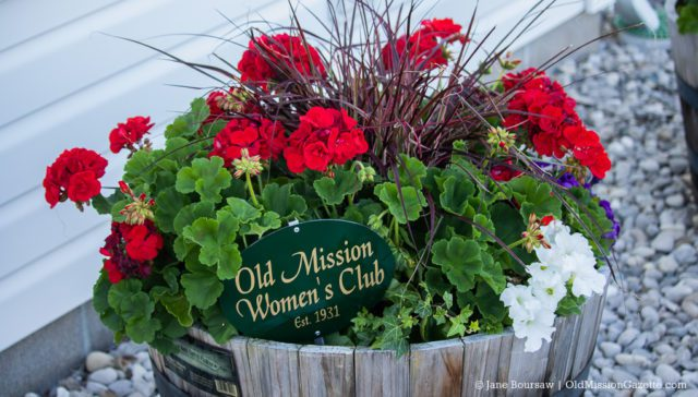 Flowers at the Peninsula Township offices, planted and maintained by the Old Mission Women's Club | Jane Boursaw Photo
