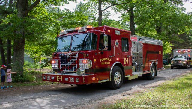 Peninsula Fire Department New Fire Engine 1