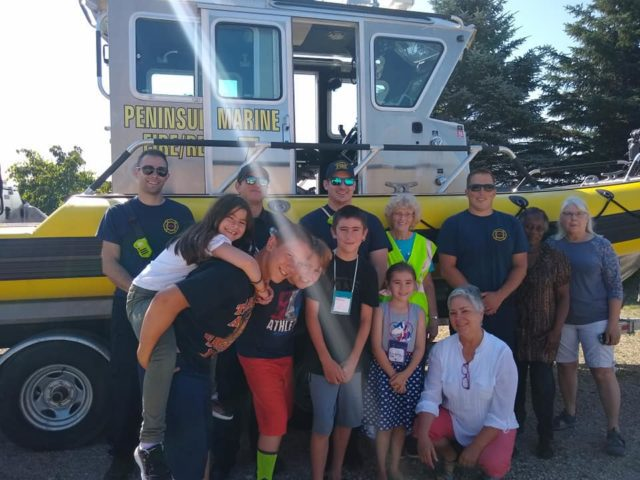 Peninsula Fire Department at OMP United Methodist Church Vacation Bible School on the Old Mission Peninsula