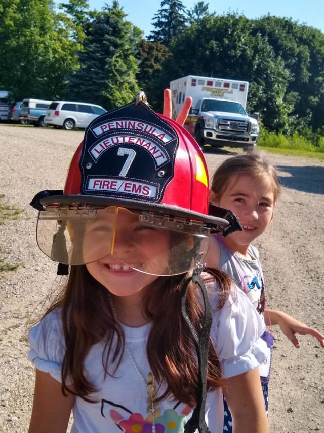 Peninsula Fire Department at OMP United Methodist Church's Vacation Bible School on the Old Mission Peninsula