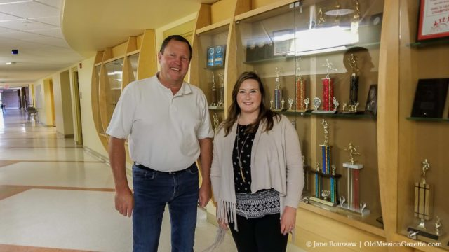 OMPS Principal Rick Couturier with new Assistant Principal Beth Simon | Jane Boursaw Photo