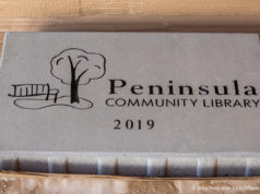 Peninsula Community Library Construction on the Old Mission Peninsula, August 2019