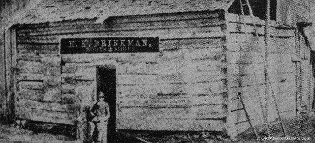 Brinkman Shoe Shop in Old Mission, 1800s
