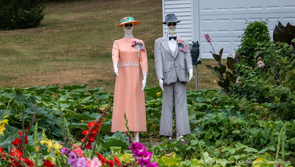 Stylish scarecrows at the King Garden, Old Mission Peninsula