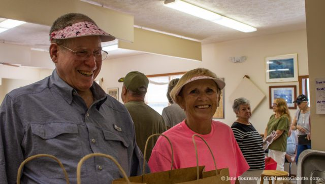 Dave Tuttle and Ellen Kerr at the Legion Hall Pig/Turkey Roast 2019 | Jane Boursaw Photo