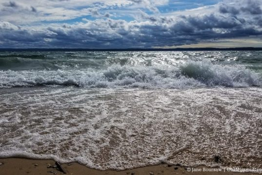 Wavy West Bay on the Old Mission Peninsula