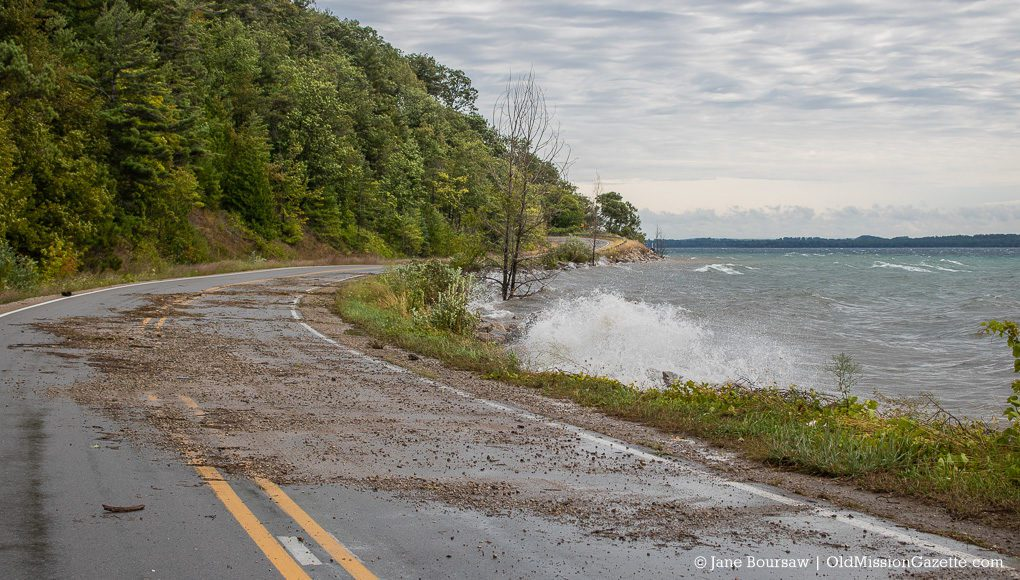 Water Over Bluff Road, Old Mission Peninsula