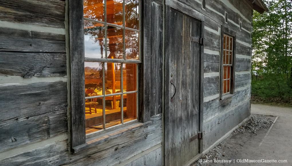 Hessler Log Cabin at Lighthouse Park on the Old Mission Peninsula