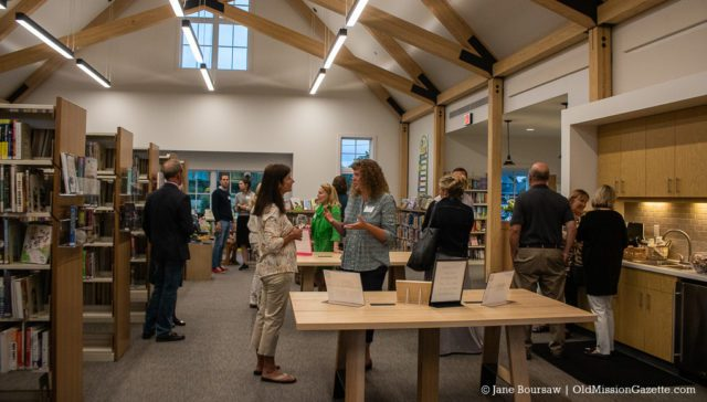 Peninsula Community Library hosts reception for major donors on the Old Mission Peninsula