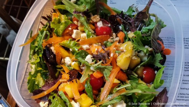 Peaches from Tabone Orchards & Vineyards in Veggie Salad