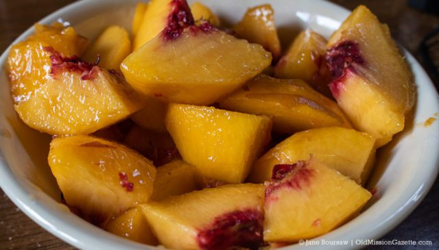 Peaches from Tabone Orchards & Vineyards on the Old Mission Peninsula