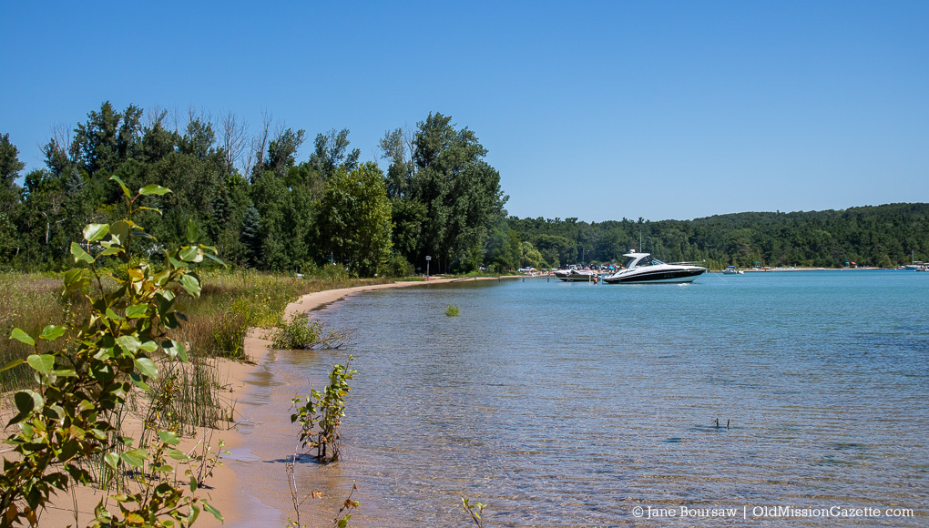 Kelley Park Beach in Old Mission on the Old Mission Peninsula