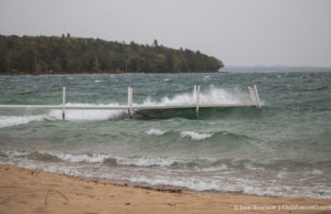 Haserot Beach Dock Right Before Being Destroyed by Waves