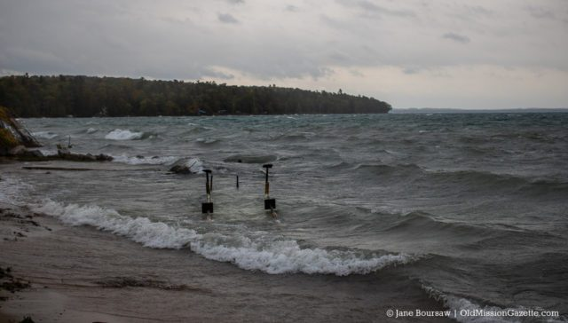 Haserot Beach Dock Destroyed by Waves | Jane Boursaw Photo