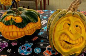 Lord of the Gourd Pumpkin Carver at Cory Holman's Pumpkin Patch on the Old Mission Peninsula