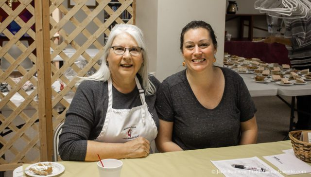 Marge Long, left, and Megan Lawrence Long at the OMPUMC Harvest Dinner | Jane Boursaw Photo