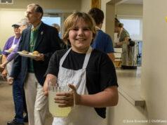 Gage Warren at the OMPUMC Harvest Dinner   Jane Boursaw Photo