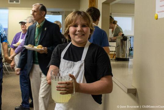 Gage Warren at the OMPUMC Harvest Dinner | Jane Boursaw Photo