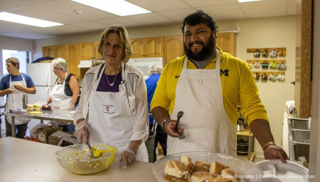 Darlene Pope and Raul Gomez at the OMPUMC Harvest Dinner | Jane Boursaw Photo