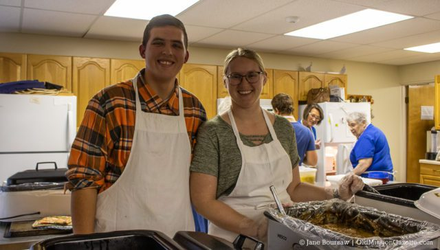 Jordan and Ashley Buckley at the OMPUMC Harvest Dinner | Jane Boursaw Photo