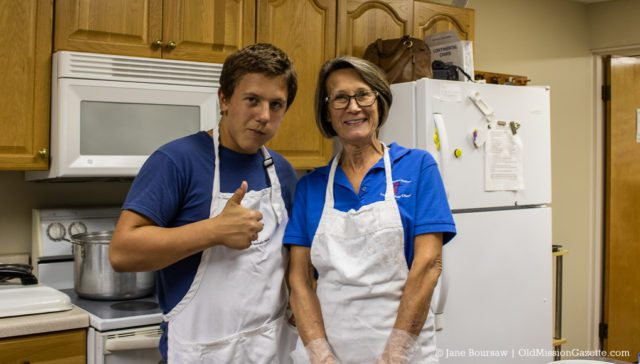 Caleb Warren and Linda Borowicz at the OMPUMC Harvest Dinner | Jane Boursaw Photo