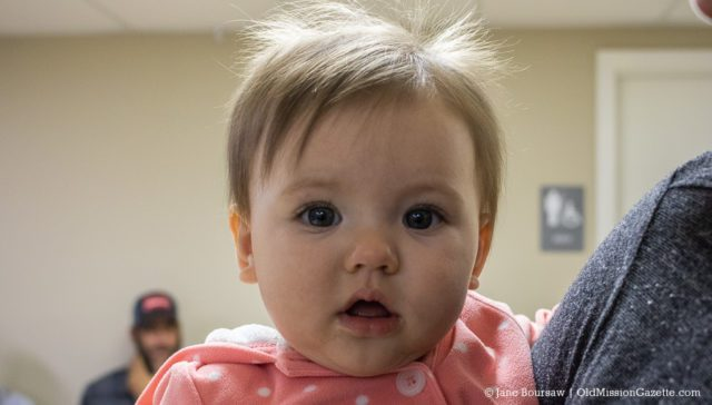 Adorable Willow Josephine Buckley at the OMPUMC Harvest Dinner | Jane Boursaw Photo