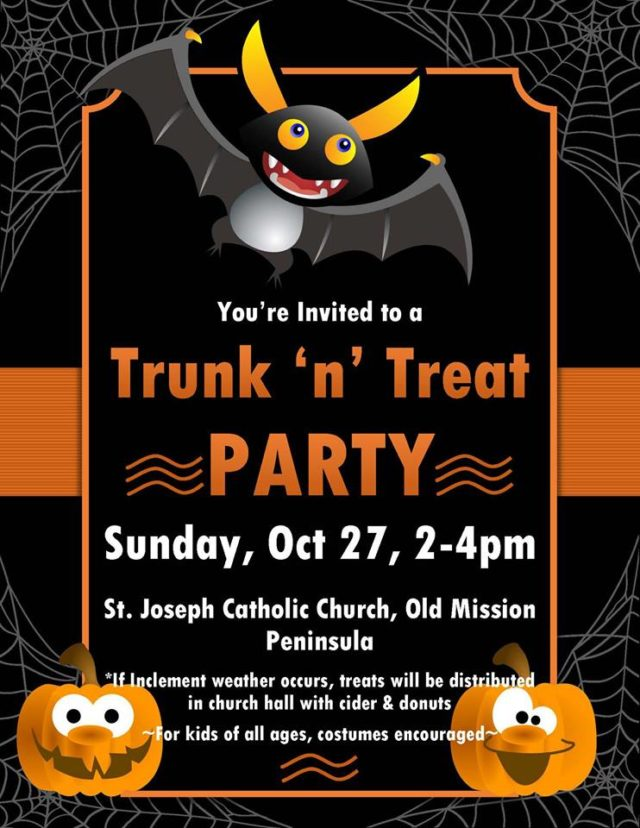 St. Joseph Catholic Church Hosting Halloween Trick or Treat Event on the Old Mission Peninsula