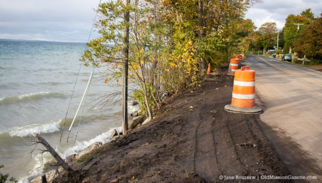Peninsula Drive re-opened after storm washes West Bay waves over road on the Old Mission Peninsula