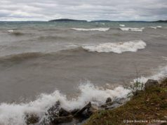 Storm Closes Section of Peninsula Drive on the Old Mission Peninsula | Jane Boursaw Photo