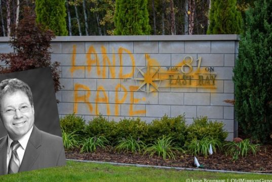 Hand Surgeon Mark Leslie Faces Felony Charges for Vandalizing 81 on East Bay on the Old Mission Peninsula
