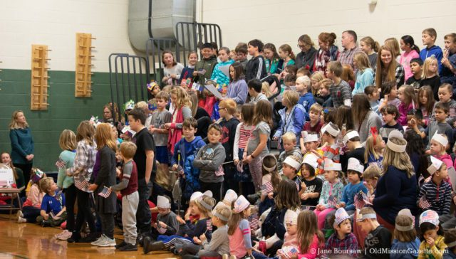 OMPS Veterans Day 2019 at Old Mission Peninsula School, Charter School Grant