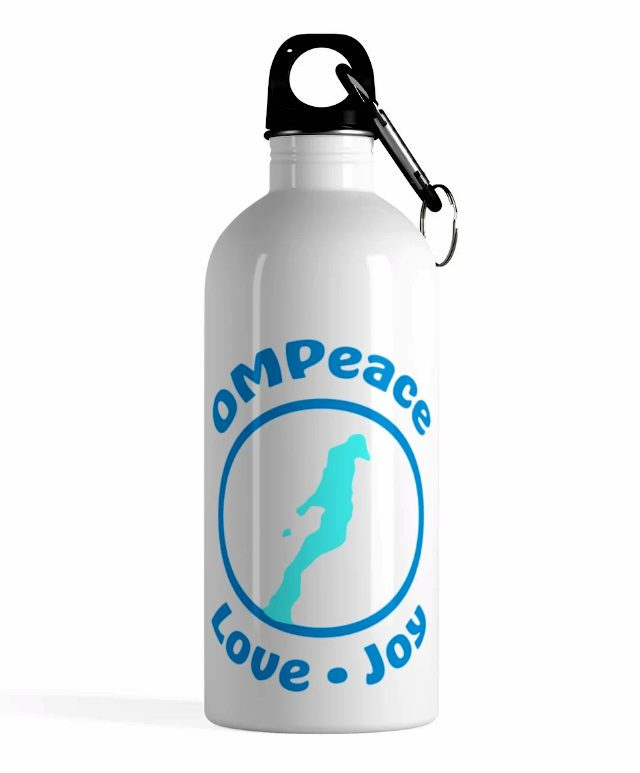 OMPeace Water Bottle at OMPstore.com, aka the Old Mission Peninsula Store on the Old Mission Peninsula