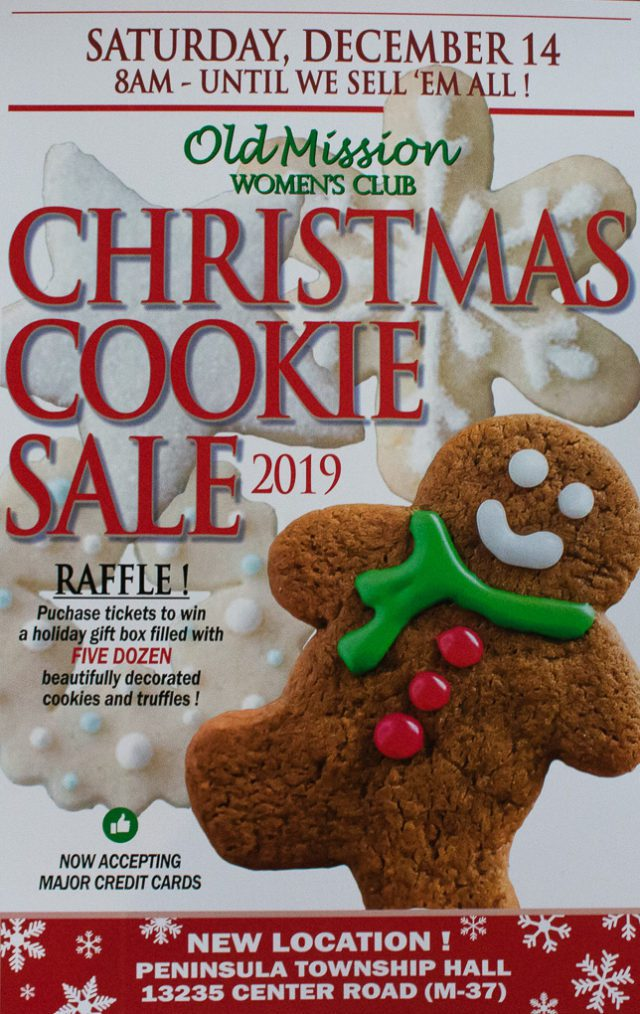 The annual Christmas Cookie Sale hosted by the Old Mission Women's Club is right around the corner.
