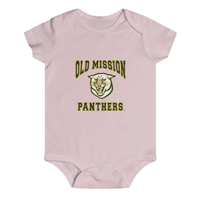 Old Mission Panthers Onesie at OMPstore.com, aka the Old Mission Peninsula Store
